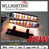 균열 마운트를 가진 48W LED 대시 챙 경고등