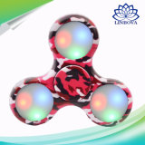 Fileur de personne remuante de doigt de jouet de cadeau de main de camouflage mini avec l'éclairage LED