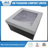 O chocolate personalizado do recipiente de papel encaixota a caixa luxuosa com indicador desobstruído