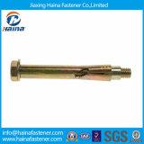 Peso plateado color del tornillo de ancla de la funda del grado de Whosale 4.8 con la pista Hex M16