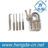Cadeado interno da opinião do Cutaway da picareta Yh9285 para ferramentas espertas do Locksmith da prática cortante da habilidade do treinamento da prática do Locksmith auto
