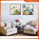 Arte enmarcado pintura al óleo abstracta de gama alta de la pared con paisaje
