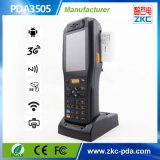 접촉 스크린 인조 인간 OS를 가진 소형 Barcode 스캐너, RFID 독자, 열 인쇄 기계, 3G, WiFi (PDA3505)