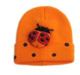 Mickey (JRK149)の赤いしまのある編まれた帽子