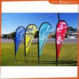 Знамя Teardrop флага полиэфира пера Поляк стеклоткани напольный рекламировать, напольный флаг пляжа флага Teardrop