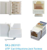 Conector Tooless de CAT6 UTP RJ45
