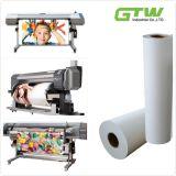 papel de transferência do Sublimation 100GSM com capacidade de absorção Extra-High da tinta para as impressoras Inkjet