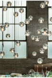 Meteor-Regen-Leuchter moderne der Vorhalle-Kristallluftblasen-Glaskugel-LED hängender des Licht-LED