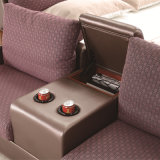 韓国様式の居間の家具- Fb8045のための現代本革のソファーベッド