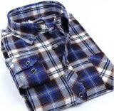 Het in het groot Katoenen van de Mensen van de Manier van het Overhemd van de Kraag van de Knoop Lange Overhemd van de Koker