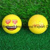 Bola divertida linda de la pelota de golf de Emoji