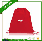 Pode Adicionar Logo Cinch Pack Use e Custom Drawstring Nylon Bag
