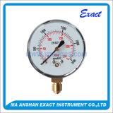 Manómetro da conexão da pressão de aço Calibrar-Preta da pressão da cápsula Calibrar-Baixo