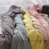 Linge de lin et coton teinté de haute qualité / écharpe en coton / écharpe (HWBC03)