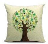 Árbol decorativo impreso Throw Cushion caso de la cubierta de la almohadilla por Couch
