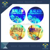 Etiqueta holográfica feita sob encomenda de prata do laser da segurança