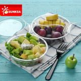 2 y 3 compartimientos Tazón de fuente de la fruta clara de la ensalada