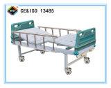 cama de hospital manual Double-Function movible a-91 con la pista de la base del ABS