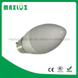 Lâmpada leitosa do bulbo da luz 5W da vela do diodo emissor de luz do brilho elevado da tampa