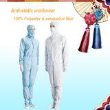 Vêtements de travail 5mm Grid Conductive Fiber ESD Coverall