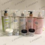 frasco cor-de-rosa plástico do animal de estimação 250ml com a bomba da loção da tira de Alumite para o empacotamento de Skincare (PPC-PB-069)