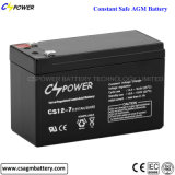 Батарея батареи SLA CS12-12 12V загерметизированная 12ah свинцовокислотная перезаряжаемые