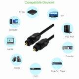 fibre optique sonore plaquée par or sonore optique Cabo de Toslink de câble de 2m Od4.0 Digitals pour le xBox de lecteur DVD
