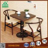 Кожаный журнальный стол и стул с деревянными конструкциями обедая таблицы использовали журнальные столы для сбывания