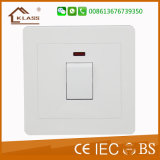 Interruptor aprovado da parede do Ce 20A D.P com néon