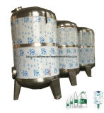 L'eau minérale épurent le matériel de écriture de labels remplissant d'emballage pour la bouteille d'animal familier