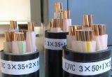PVC isolado e cabo distribuidor de corrente blindado de fio de aço de Sheated