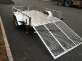 Hete Ondergedompelde Gegalvaniseerde Aanhangwagen ATV met Helling