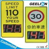 Limite de vitesse et signal d'alarme solaires de poteau de signalisation