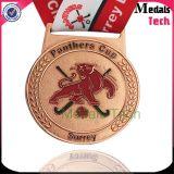 Medalla suave plateada cobre de encargo del deporte del metal del esmalte de Promothon con la cinta