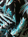 Напечатанная полиэфиром 100% простирания ткани Spandex ткань шифонового шифоновая для платья