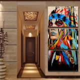 نوع خيش طبع فنّ ال [إيندينس] يريّش [بينتينغ كنفس] [برينت رووم] زخرفة طبعة ملصقة صورة نوع خيش جدار فنية [مك-002]