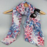Form-Zusatzgeräten-Sommer-Polyester gedruckter langer Schal für Frauen-Sprung-Schal