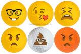 Esfera de golfe feita sob encomenda colorida da face do sorriso de Emoji