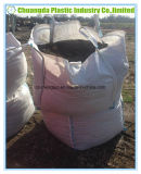 Abrir o saco maioria enorme da areia do recipiente grande superior