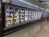 Congelador de refrigerador de cristal usado supermercado comercial de la puerta