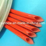 Fibre de verre résistante de silicones de température élevée gainant pour les fils électriques