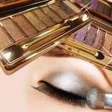 Nueva sombra de ojo de la escritura de la etiqueta privada de la gama de colores del sombreador de ojos del reflejo de los colores de la manera 9
