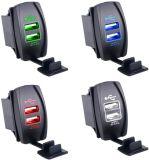 Chargeur duel imperméable à l'eau du véhicule USB de DEL pour le panneau d'inverseur à rappel