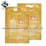 Bolso del alimento del papel de Ziploc Kraft del sello de la impresión 8-Side de la alta calidad