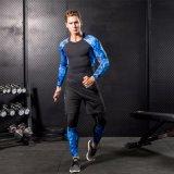 Abiti sportivi correnti di forma fisica del camuffamento respirabile di ginnastica di compressione dell'uomo
