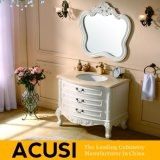 Meubles simples européens de vente chauds de la meilleure qualité neufs de salle de bains de Module de salle de bains de vanité de salle de bains en bois solide de type (ACS1-W41)