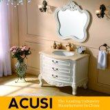 Europäische einfache Art-festes Holz-Badezimmer-Großhandelseitelkeit (ACS1-W41)