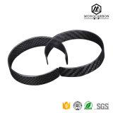 Kundenspezifisches Kohlenstoff-Faser-Armband-Verhältnis-kühle Armbänder für die Jungen-Schwarz-Matt-/glatten Armbänder