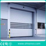 Puertas rápidas de arriba del balanceo de la acción del almacén de aluminio del metal industrial de la aleación
