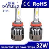 6000k LED 자동차 부속 32W 2800lm LED Headlamp